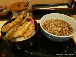 Tempura and Soba are quite a common tandem in Japan.